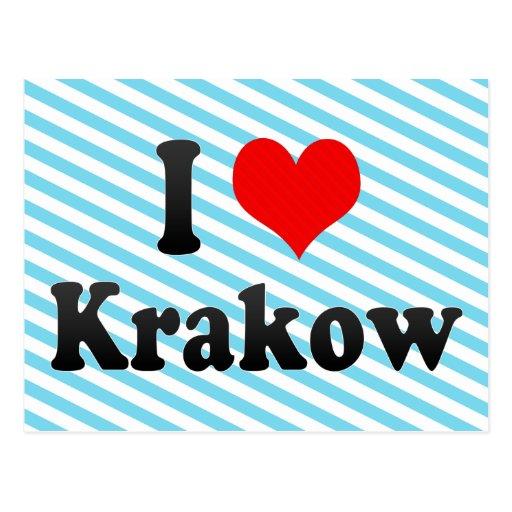 I Love Krakow, Poland Postcards