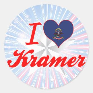I Love Kramer, North Dakota Sticker