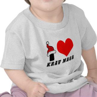 I Love Krav Maga Design Tee Shirts