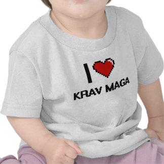 I Love Krav Maga Digital Retro Design Shirts