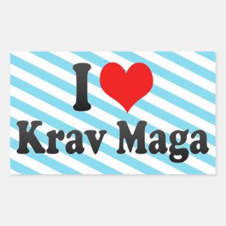 I love Krav Maga Stickers