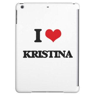 I Love Kristina iPad Air Cover