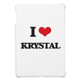 I Love Krystal iPad Mini Covers