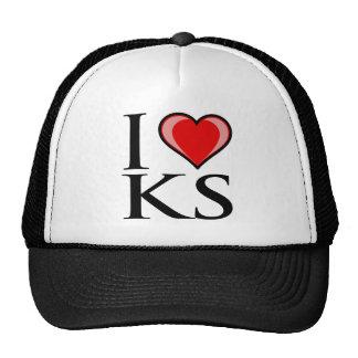 I Love KS - Kansas Mesh Hat