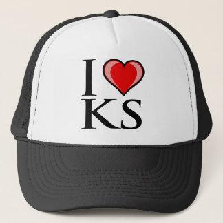 I Love KS - Kansas Trucker Hat