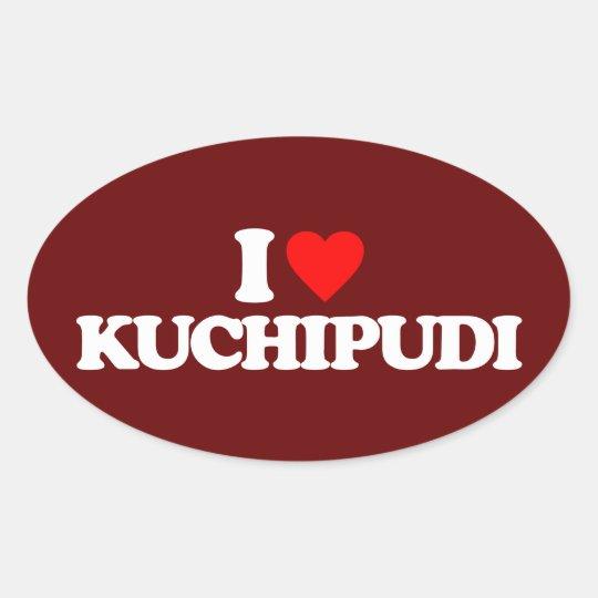 I LOVE KUCHIPUDI OVAL STICKER