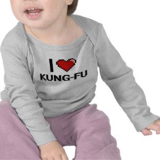 I Love Kung-Fu Digital Retro Design Tshirts