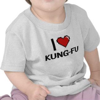 I Love Kung-Fu Digital Retro Design T-shirts