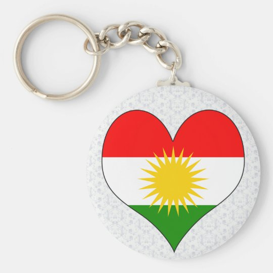 I Love Kurdistan Basic Round Button Key Ring
