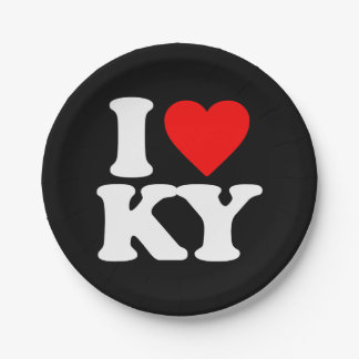 I LOVE KY PAPER PLATE
