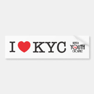 I Love KYC Bumper Sticker