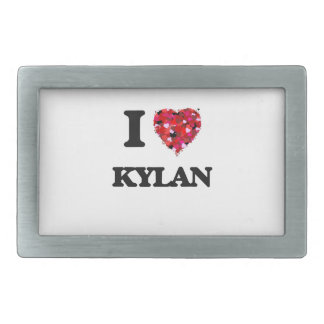 I Love Kylan Belt Buckle