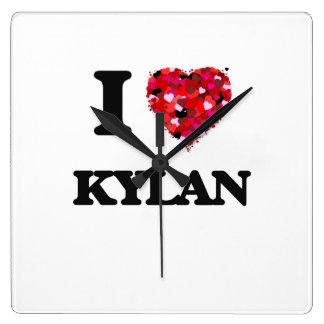 I Love Kylan Wallclock