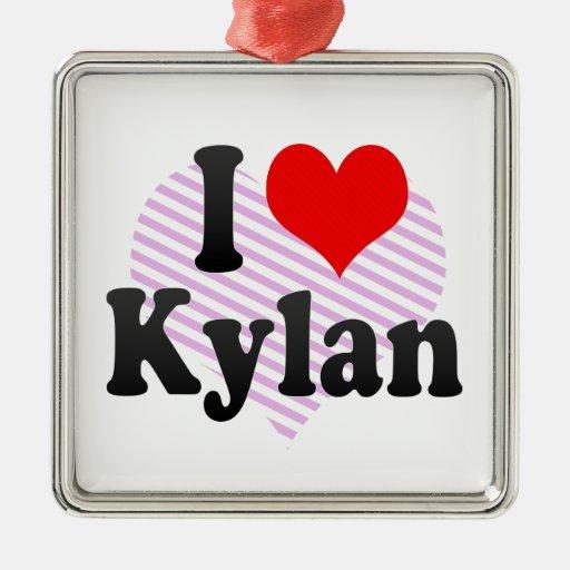 I love Kylan Christmas Tree Ornament
