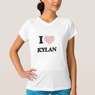 I Love Kylan (Heart Made from Love words) T Shirts