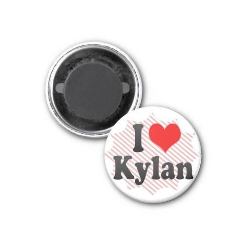 I love Kylan Fridge Magnet