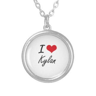I Love Kylan Round Pendant Necklace