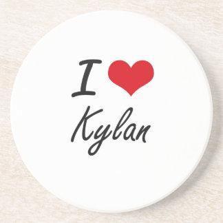 I Love Kylan Sandstone Coaster