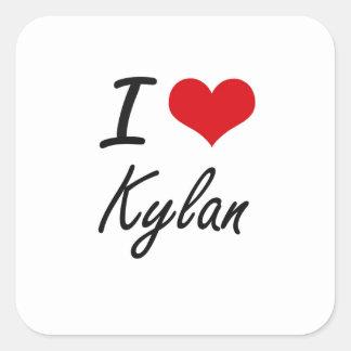 I Love Kylan Square Sticker