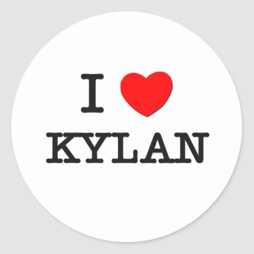 I Love Kylan Stickers