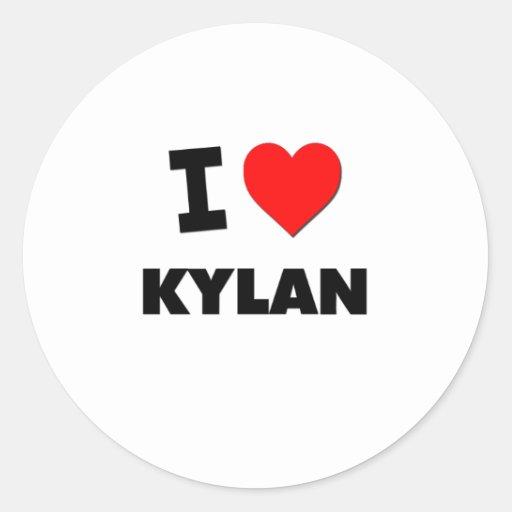 I love Kylan Sticker