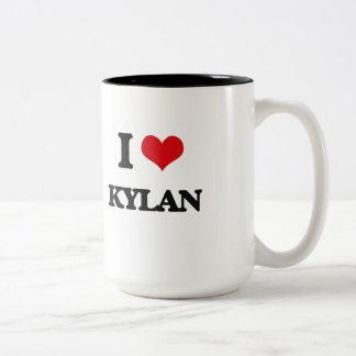 I Love Kylan Two-Tone Mug