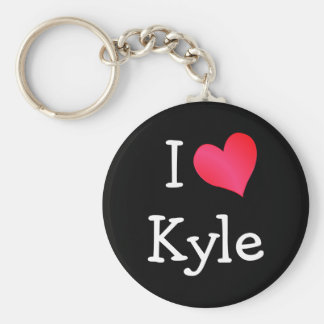 I Love Kyle Key Ring