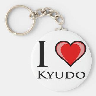 I Love Kyudo Key Ring
