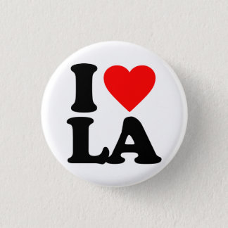 I LOVE LA 3 CM ROUND BADGE