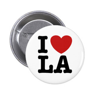 I Love LA 6 Cm Round Badge