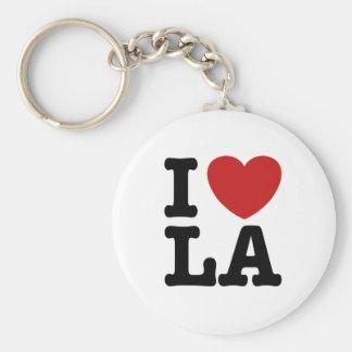 I Love LA Basic Round Button Key Ring