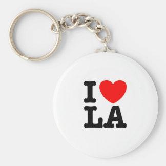 i love, la store basic round button key ring