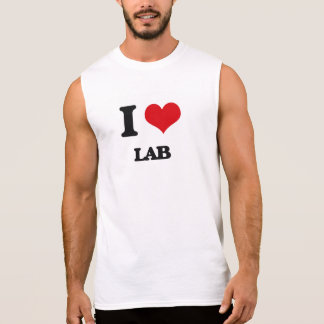 I Love Lab Sleeveless Shirts