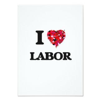 I Love Labor 13 Cm X 18 Cm Invitation Card