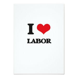 I Love Labor 5x7 Paper Invitation Card