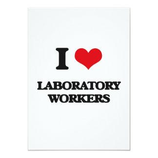 """I love Laboratory Workers 5"""" X 7"""" Invitation Card"""