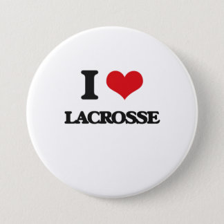 I Love Lacrosse 7.5 Cm Round Badge