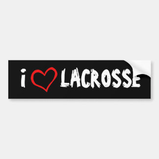 I Love Lacrosse Bumper Stickers