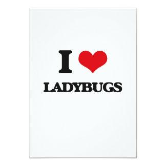 I Love Ladybugs 13 Cm X 18 Cm Invitation Card