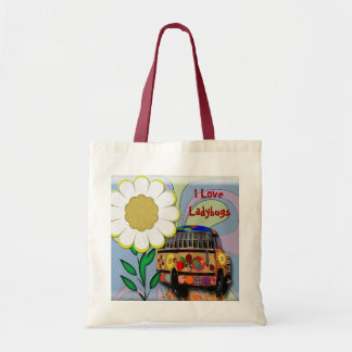 I Love Ladybugs Budget Tote Bag