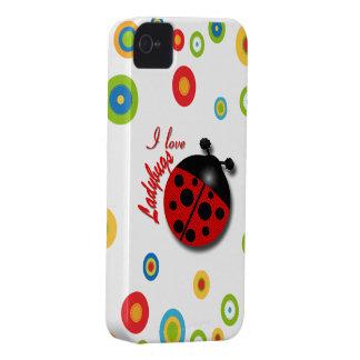 I Love Ladybugs Case-Mate iPhone 4 Case
