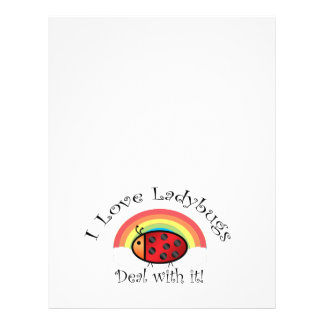 I love ladybugs deal with it 21.5 cm x 28 cm flyer