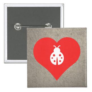I Love Ladybugs Icon 15 Cm Square Badge