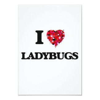I Love Ladybugs 9 Cm X 13 Cm Invitation Card