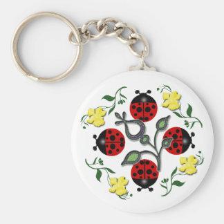 I Love Ladybugs Key Ring