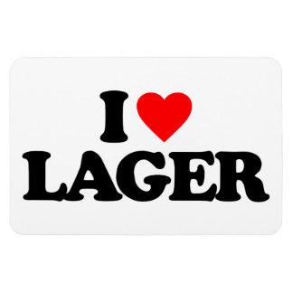 I LOVE LAGER VINYL MAGNET