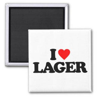 I LOVE LAGER FRIDGE MAGNET