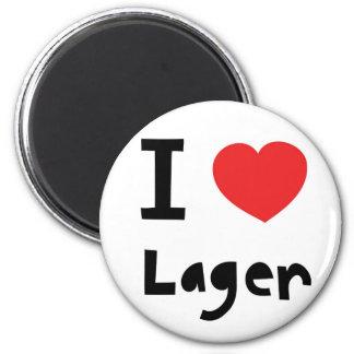 I love Lager 6 Cm Round Magnet