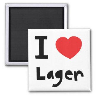 I love Lager Square Magnet