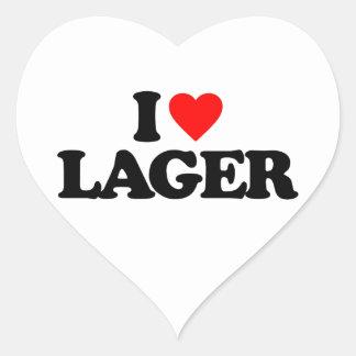 I LOVE LAGER STICKER